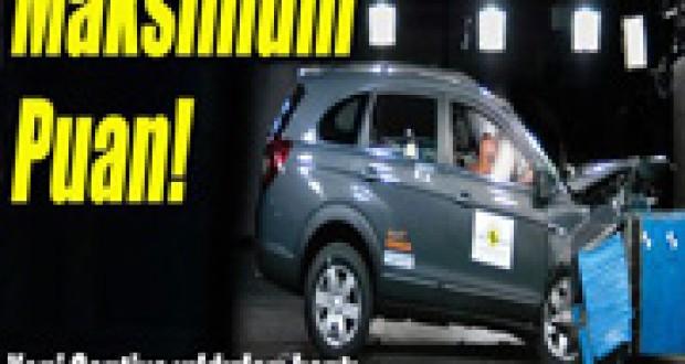 Chevrolet Captiva 2011,Euroncap Araba Çarpma Testinden,Yıldızları Topladı izle