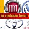 Türkiyede,Trafikteki Araç Sayısı,En Çok otomobil,Tercih Edilen Markalar,2013